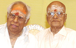 Legendary composers MSV & Ramamurthy felicitated