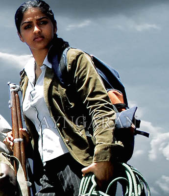 Dhanushika- The new action heroine of tinsel town