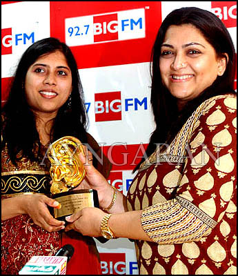 Actress Kushboo at BIG FM