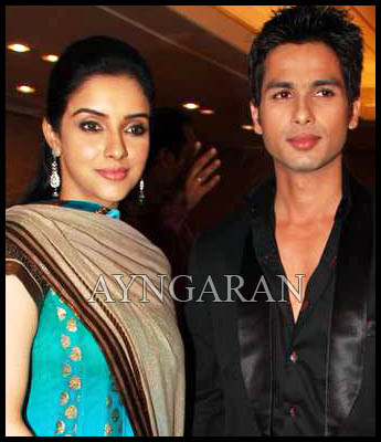 Asin and Shahid Kapoor share the screen space together