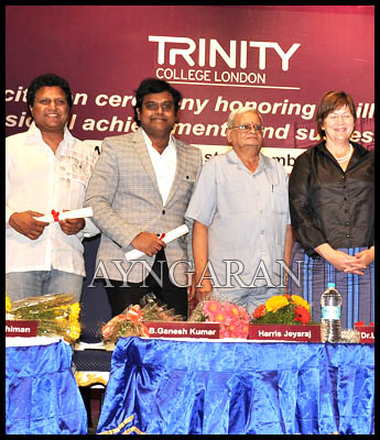 Trinity College recognizes Indian talents