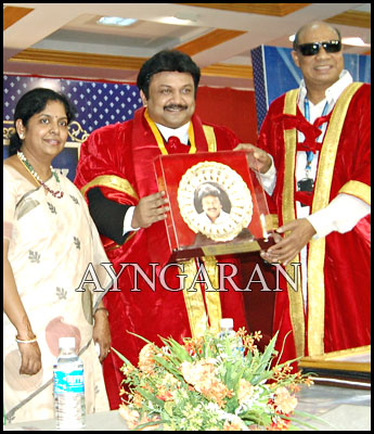 Honorary Doctorate conferred to actor Prabhu
