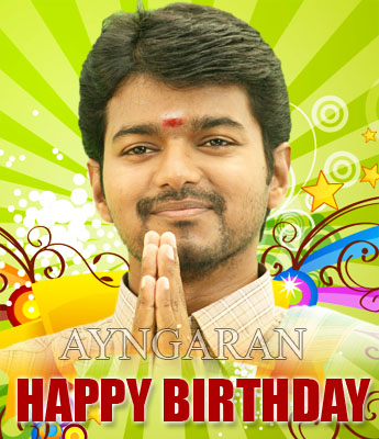 Hearty wishes to Illayathalapathy Vijay