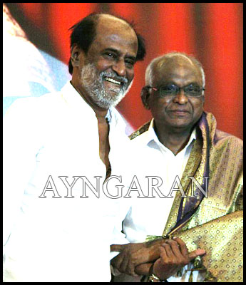 Rajini makes his first public appearance