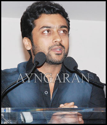Surya meets the press