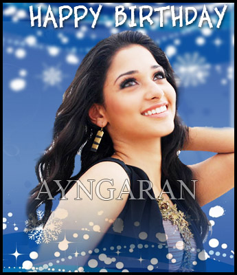 Hearty wishes to actress Tamannah