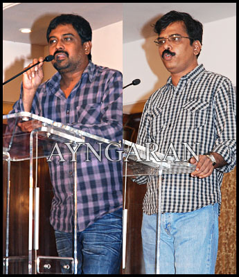 Director Lingusamy meets the press