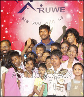 Actor Vishal-for a cause