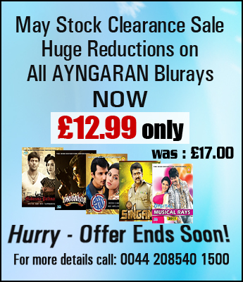 Massive Price reduction in Ayngaran Blu Ray's
