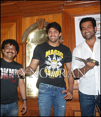Arya, Prithviraj meets the press