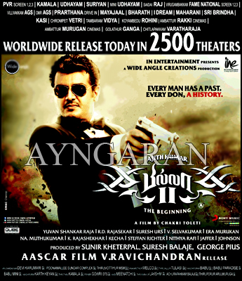 Thala Ajith's much awaited film BILLA II releasing worldwide today