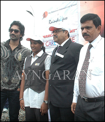 Actor Aadhi at World Sight Day March Event