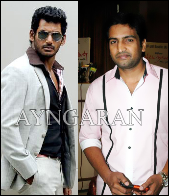 Santhanam with Vishal