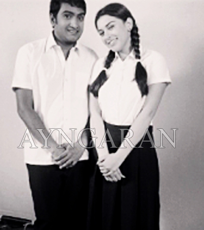 Santhanam & hansika school friends