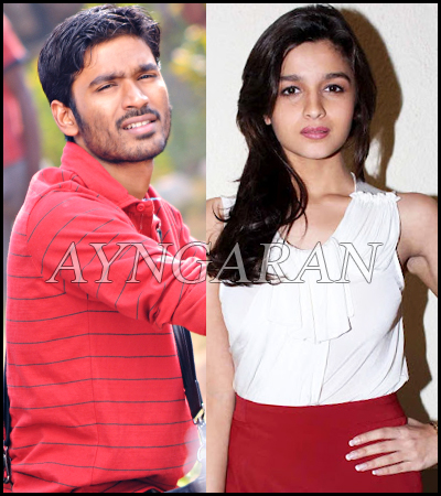 It is no Alia Bhatt for Dhanush
