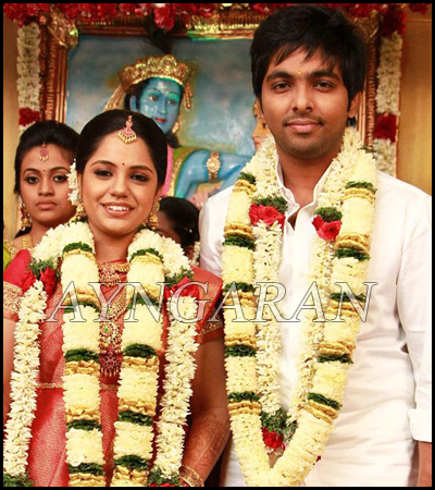 GV & Saindhavi get married