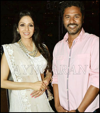 Sridevi and prabhudeva face to face