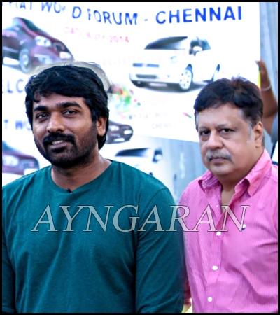 Vijay Sethupathi in Padmini fiat rally at Asiana Hotel