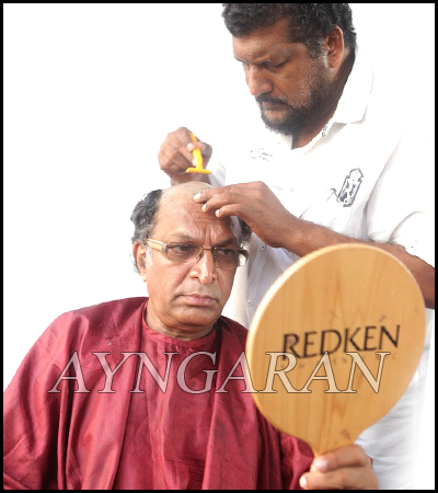 Nasser loses hair for 'Saivam'