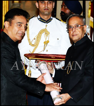 Kamal Hassan & Vairamuthu recieved Padmabhushan awards today
