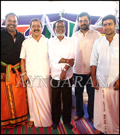 Surya & Venkat Prabhu movie pooja held