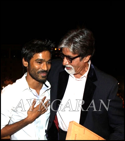 Dhanush's good experience with Amitabh Bachchan