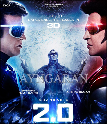 The Much Awaited Rajinikanth's 2.0 Teaser (3D) release date