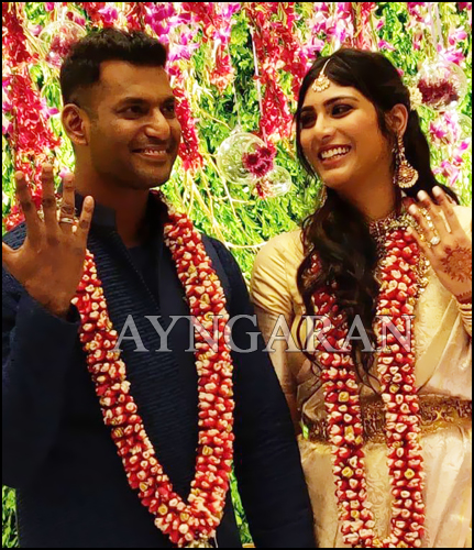 Actor Vishal gets engaged to Anisha